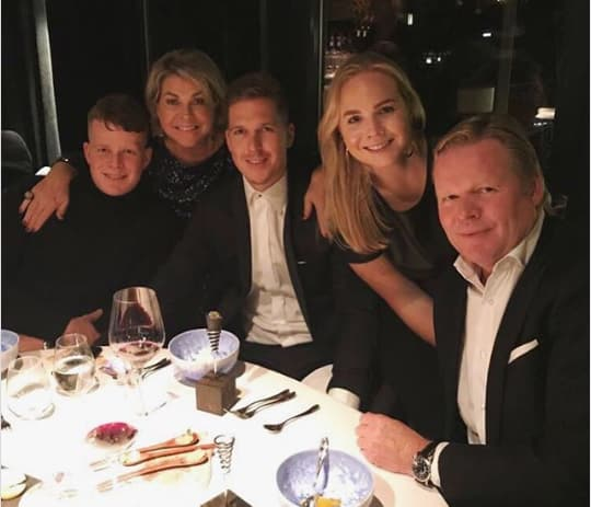 From L-R Ronald Koeman Jr, Bartina,Tim, Debbie and the manager himself.