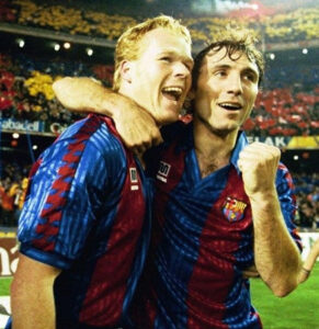 See a photo of the ex-defender during his glory days at Barcelona.