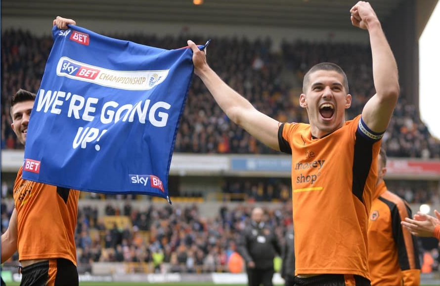 Connor Coady helped Wolverhampton Wanderers achieve promotion