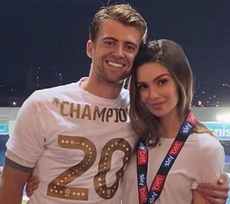 Patrick Bamford with his girlfriend