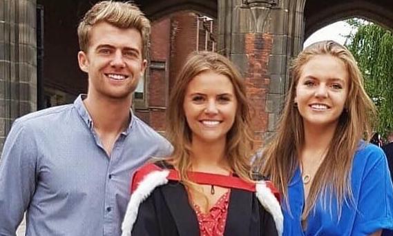 Patrick Bamford with his sisters