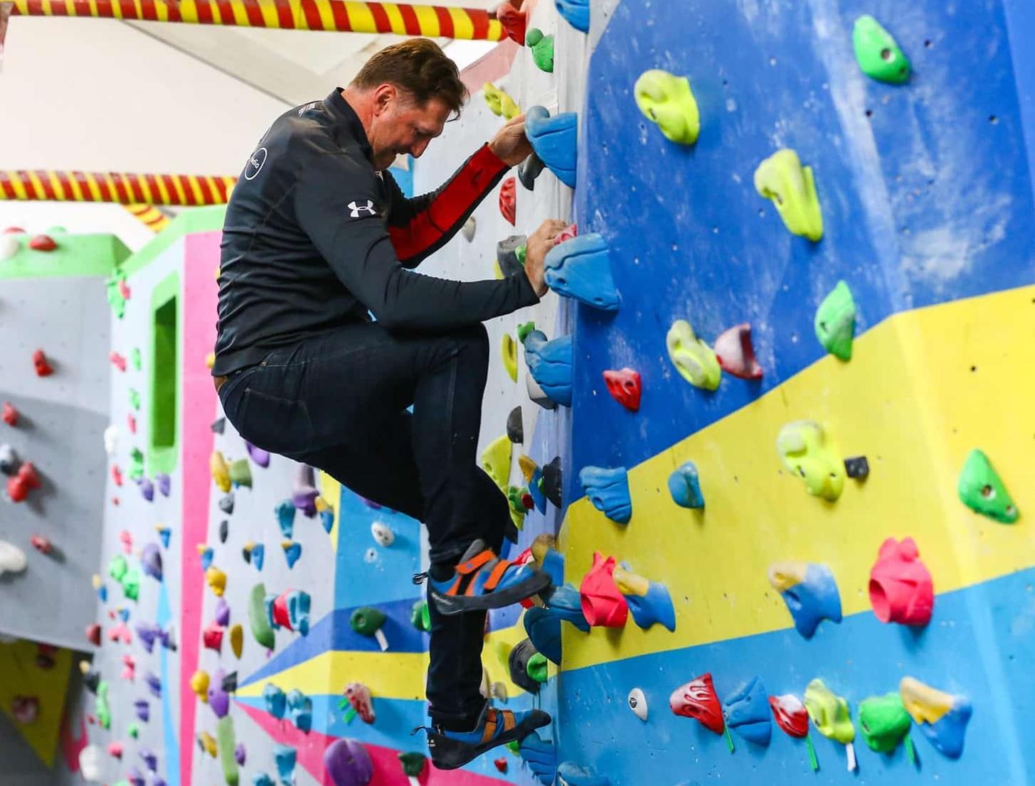 Ralph Hasenhuttl Climbing Canyon Walls
