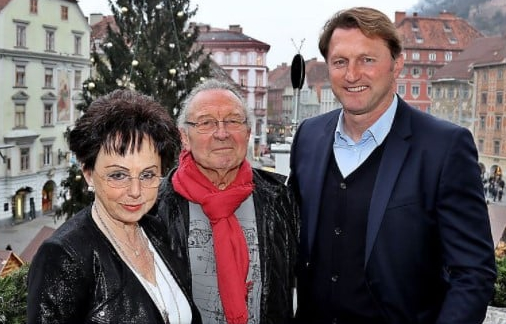 Ralph Hasenhuttl with his parents