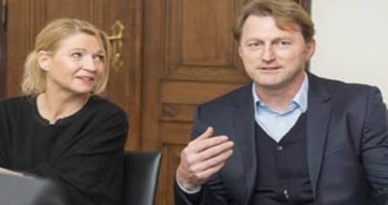 Ralph Hasenhuttl with his wife