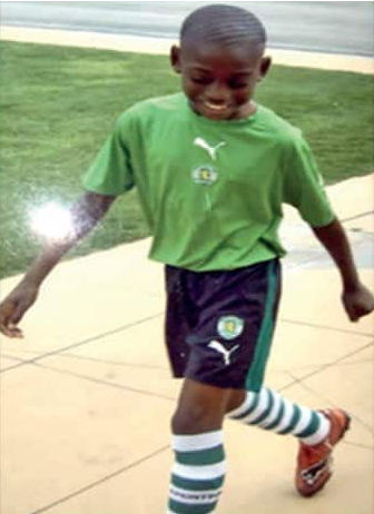 Photo of Rafael Leao during his early football days.