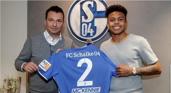 Photo of Weston Mckennie in Europe after being signed by Schalke.