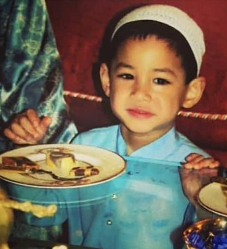 childhood photo of Faiq Jefri Bolkiah.