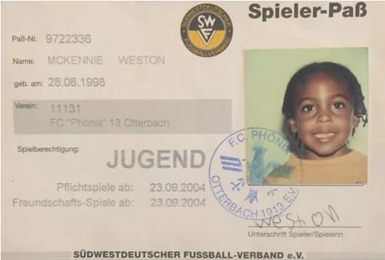 identity card of the midfielder at six.