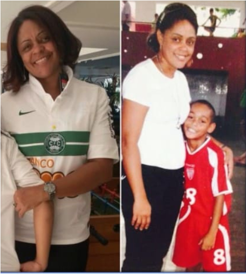 matheus cunha photo with his beautiful mum when he was a child