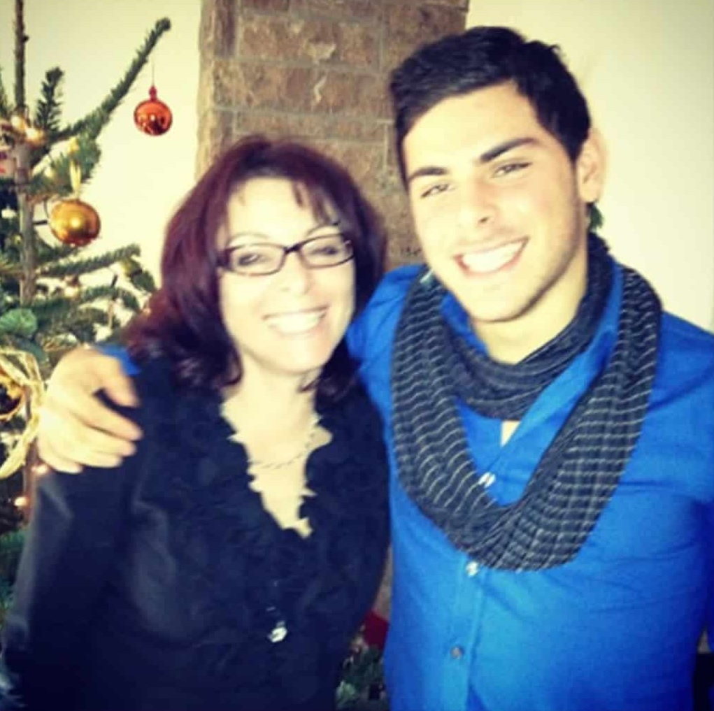 photo of kevin and his mother.