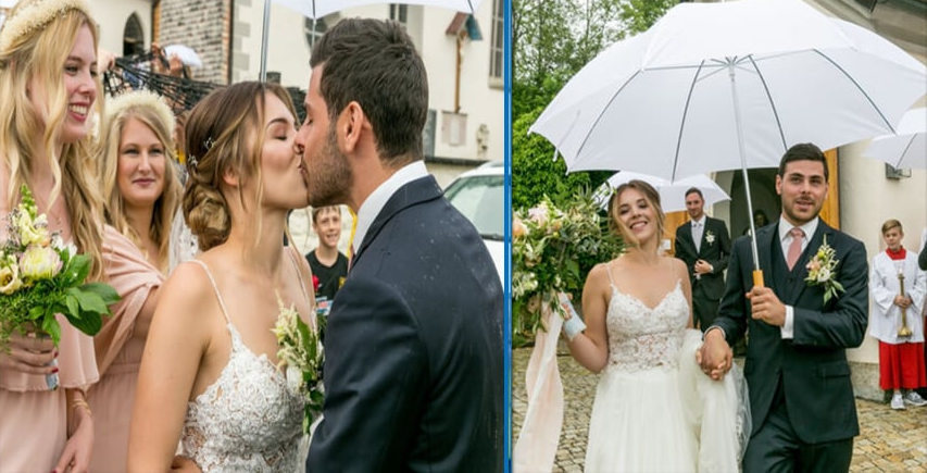photo of kevin volland and his wife on their wedding day.