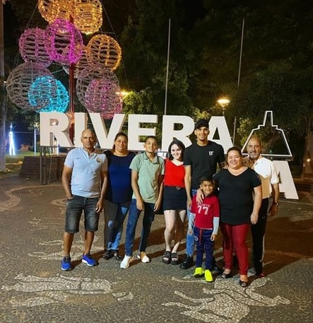 photo of the plaher and his family at revira