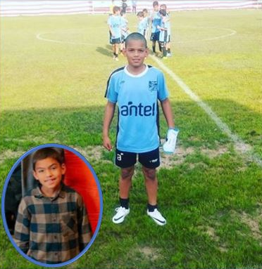 photo of the player's younger brother.