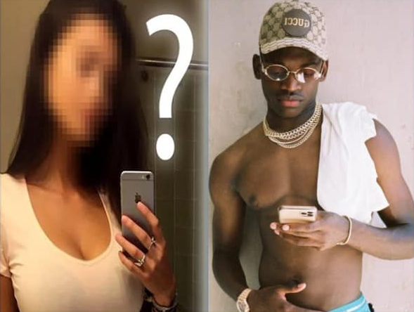 we can only guess the girlfriend of the striker.