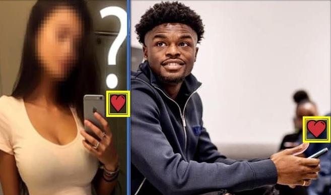one can only guess who the player is dating.