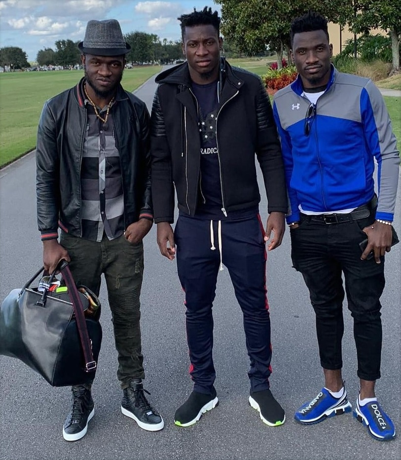 photo of Onana and his brother.