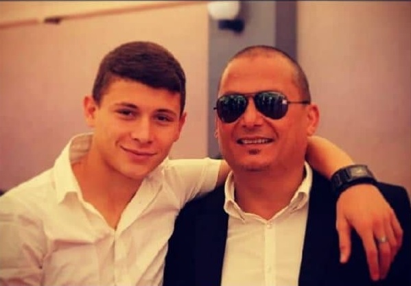 photo of nicolo and his father.