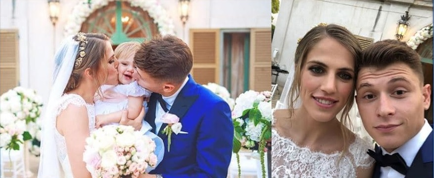 photo of nicolo and his wife on thheir weeding day.