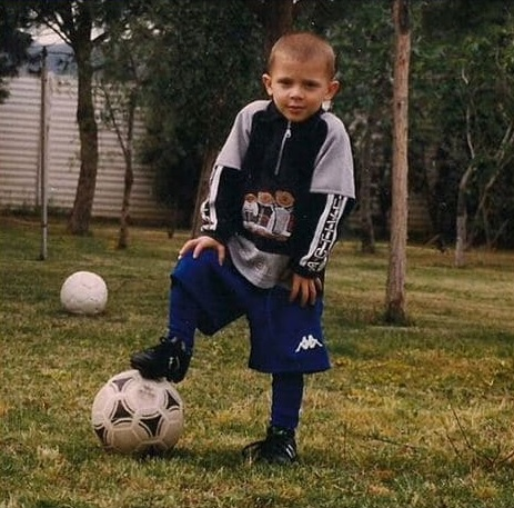 photo of nicolo durng his early football career.
