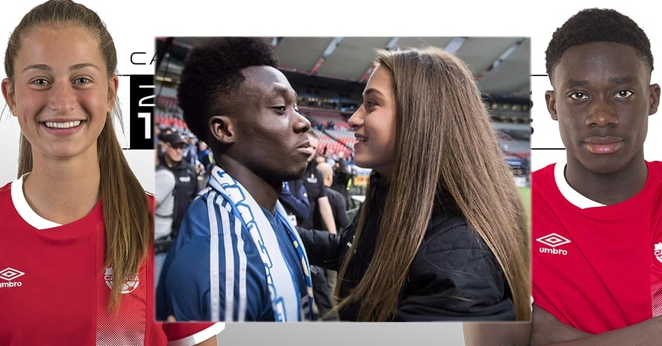 photo of the player and his girlfriend.