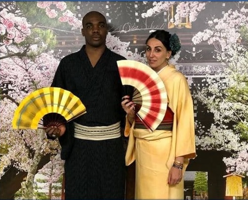 photo of the player and his wife.