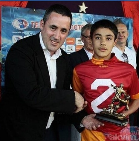 photo of the player during his early football career.