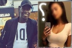 we can only guess who the goalkeeper's girlfriend is